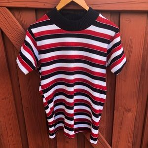 Vintage striped sweater blouse small medium